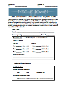 Welcome to Tysons Tower's Tenant® Portal